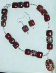 Red Apple Jasper, Brecciated Jasper and Sterling Silver